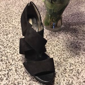 Banana Republic Black zip up sandals